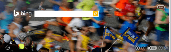 Bing Boston Marathon home page 2014