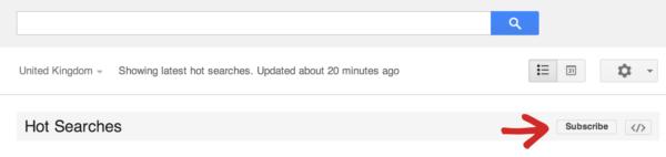 Google Trends Inbox
