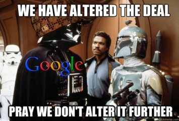 star wars meme for Google altering the deal