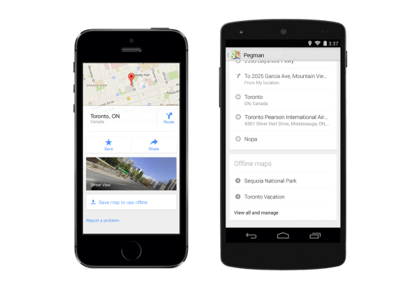 Google Maps Save map to use offline