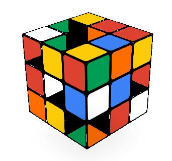 Rubiks Cube Google logo 2014