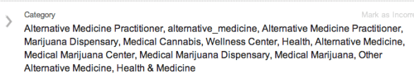Colorado Clinic listed categories