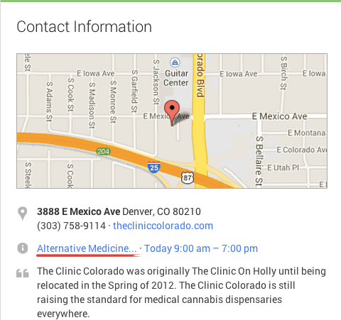 The Clinic Colorado G+ Page