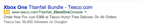 An Xbox ad on Google