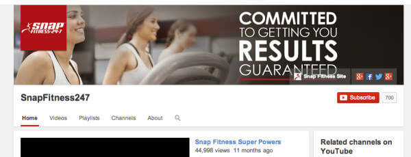 snap fitness youtube