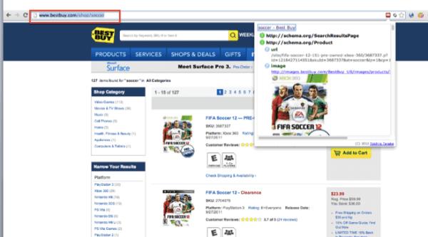 Best Buy Shop URLs serve as a rich data experience.