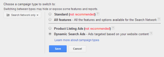 Creating a DSA in AdWords