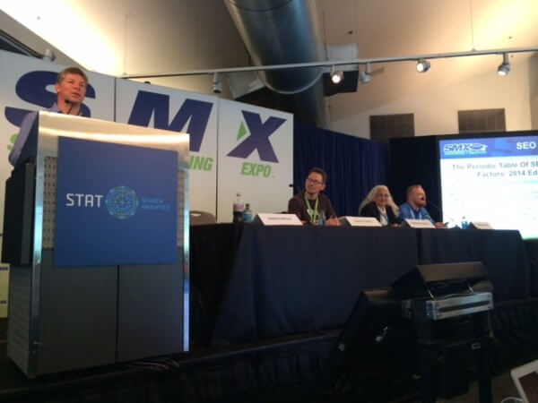 SMX Advanced SEO ranking factors panel
