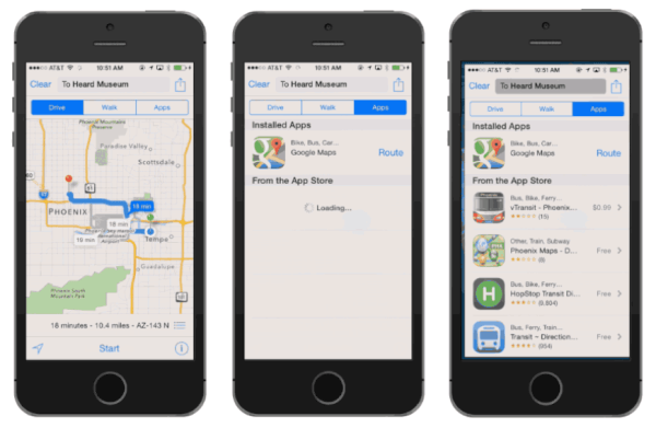Apple Maps with Third Party apps