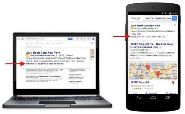 Google AdWords Dynamic Sitelinks