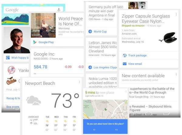 google now examples