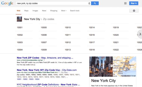 google-zipcodes