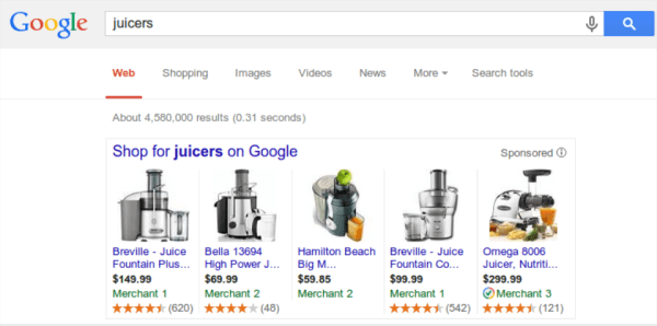 Ratings in Google Product Listing Ads
