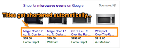 Google Shopping Ads Have Shortened Titles