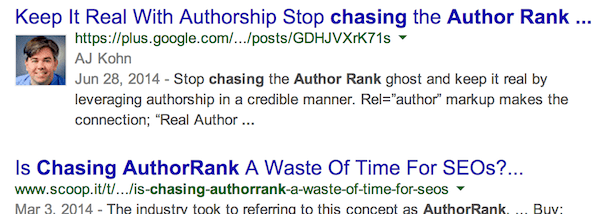Authorship Photos in Personalized Searchj