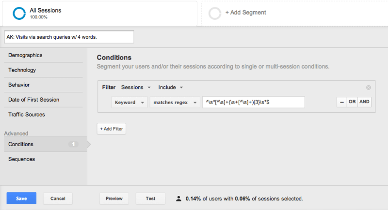 Segments in Google Analytics