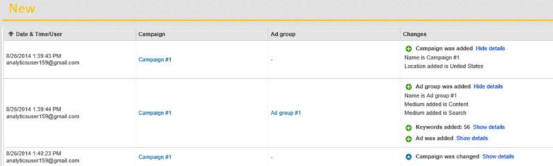 Bing Ads Change History Report update