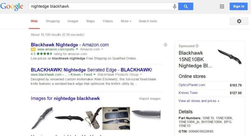 Google AdWords policy center nightedge blackhawk ad