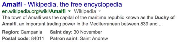 amalfi wikipedia listing