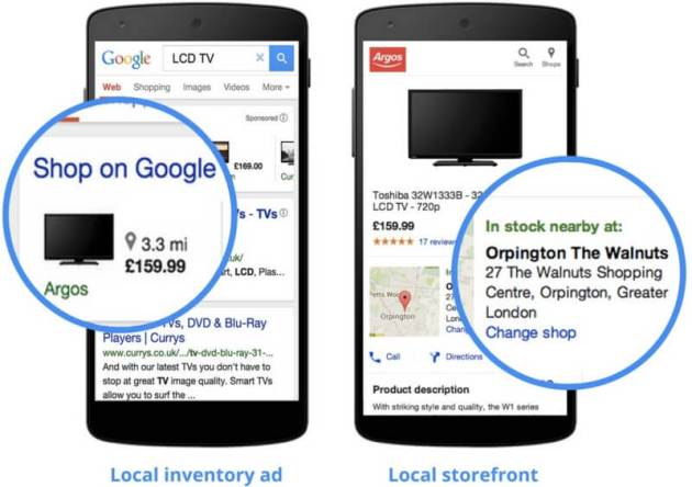 Google AdWords local inventory pla ads