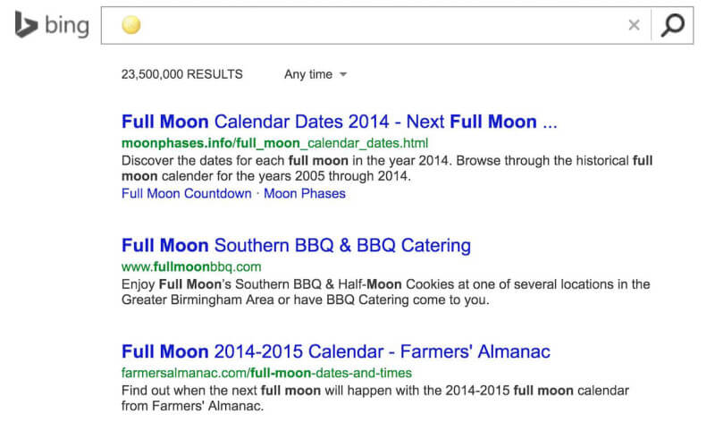 Bing Now Lets You Search By Emoji