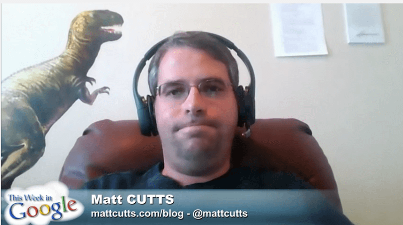 Matt Cutts This week in Google screen shot 800