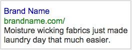 Example AdWords Ad 1