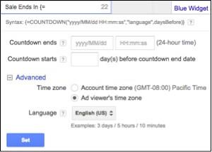 Image of countdown widget