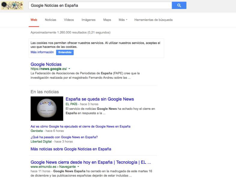 Google Noticias en España