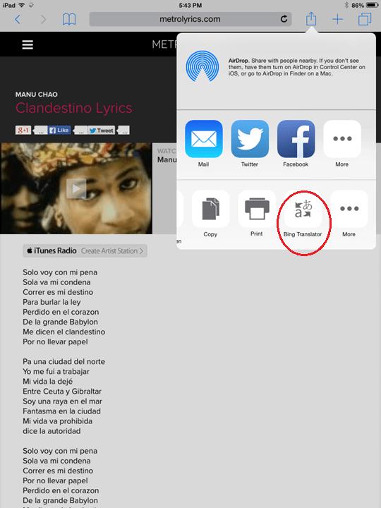 iPad-Translate-Extension
