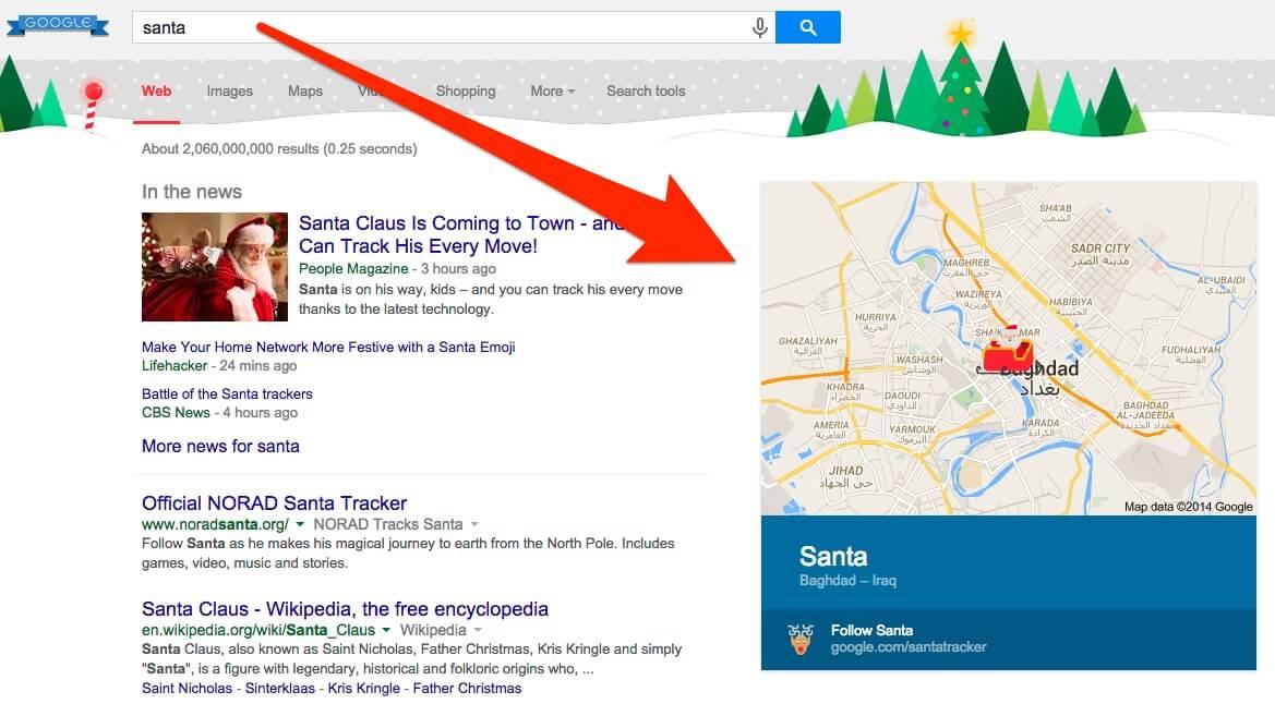 2014 google santa search