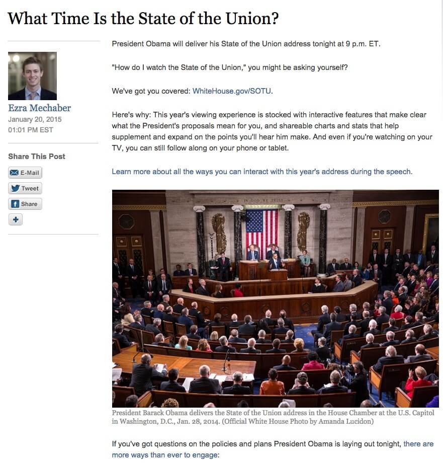white house what time is the state of the union