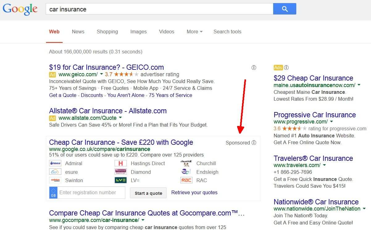 "Geico Online Quote Google Results For ""Car Insurance"" Could Look Different Very Soon"