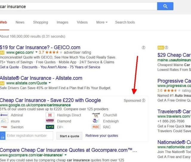 Google Results For Car Insurance Could Look Different Very Soon