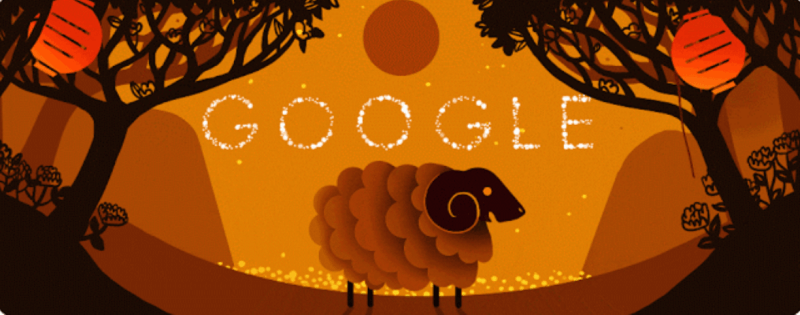 Google lunar new year hero