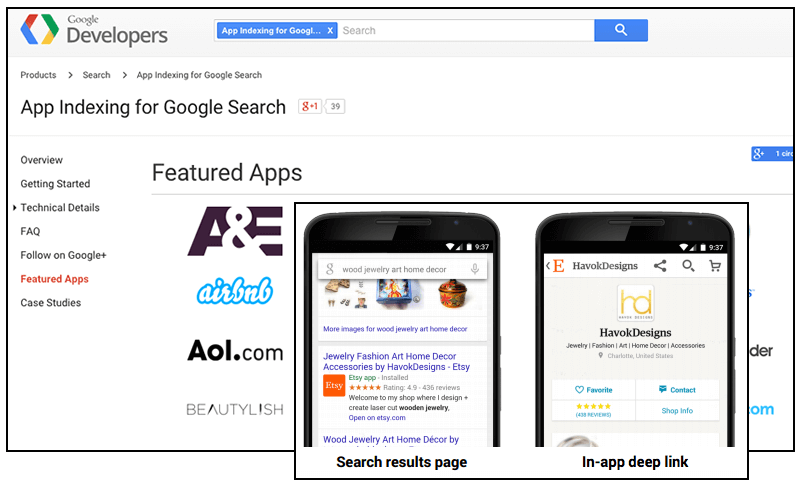 App Indexing Search