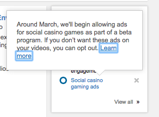 google adwords admob youtube social casino games ads