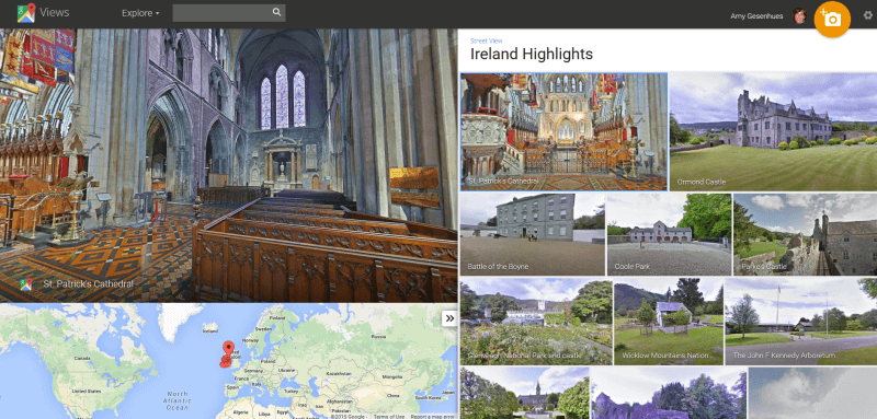Ireland highlights google maps