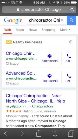 Chiropractor Chicago Images From Mobile View