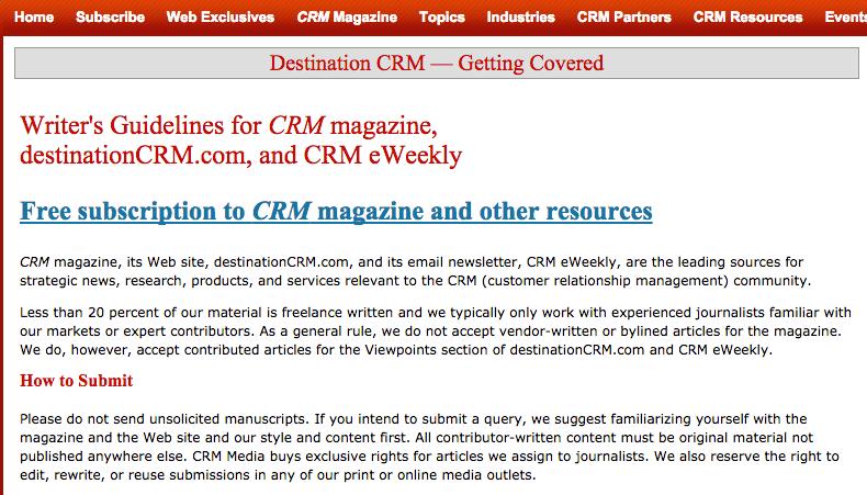 Destination CRM Editorial