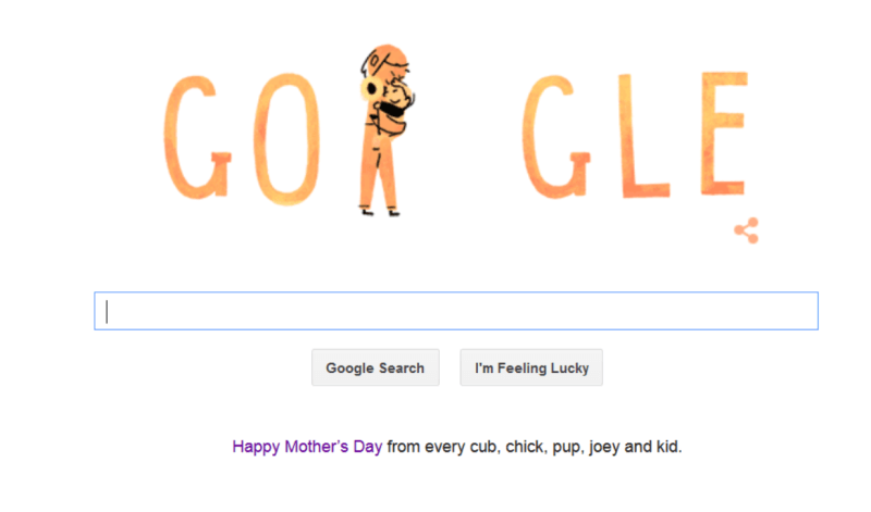 Google Mother's day logo 2015