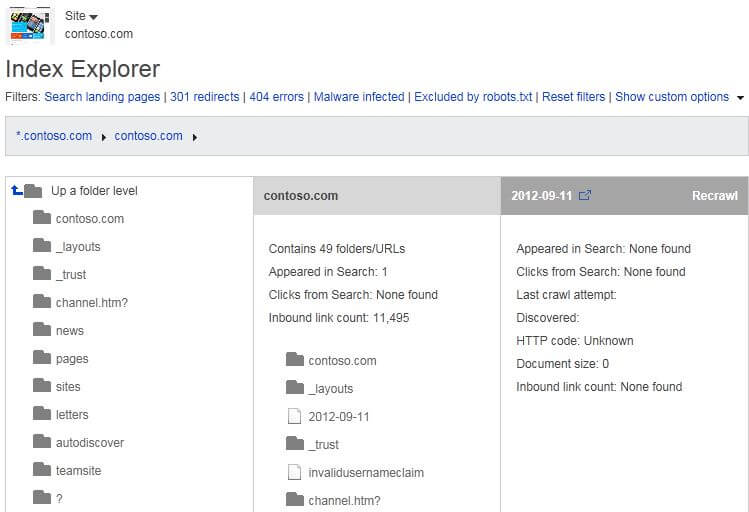Index Explorer
