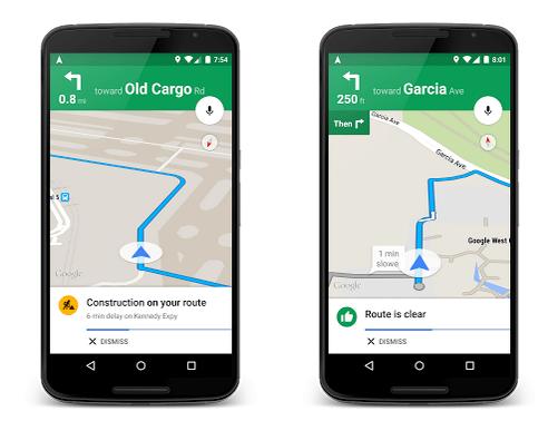 New Google Maps Traffic Alerts