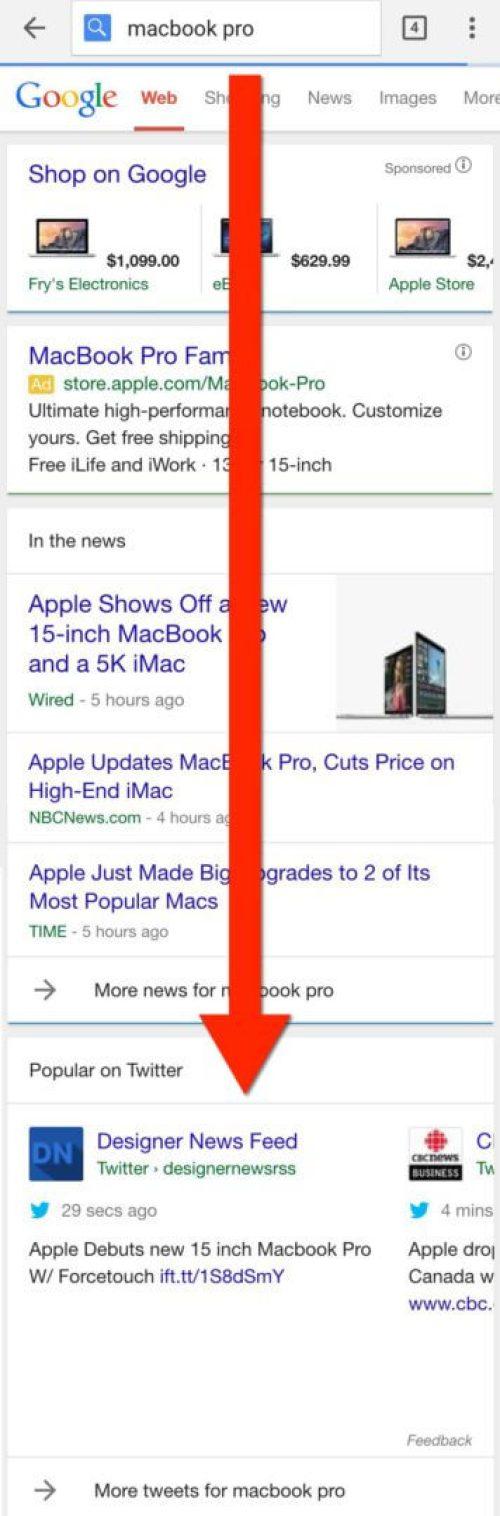 macbook tweets on google