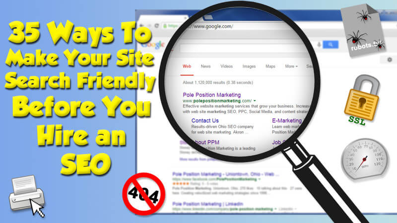 How to make your site search engine friendly