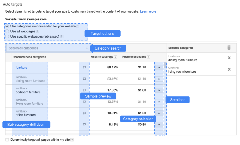 google adwords dynamic search ads (DSA) set up