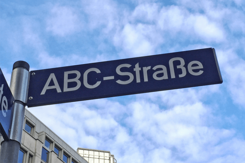 Google German On ABC-Strasse