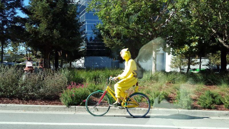 Pikachu On Google Bike