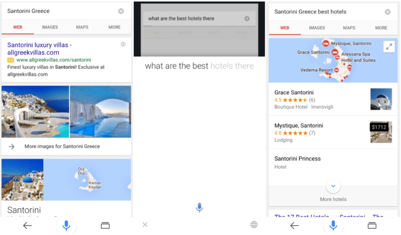 Google iOS conversational search