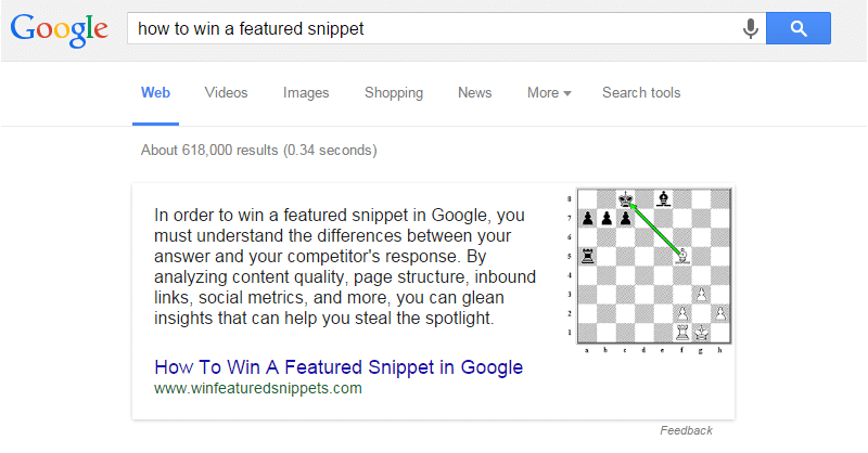 Losing a Featured Snippet